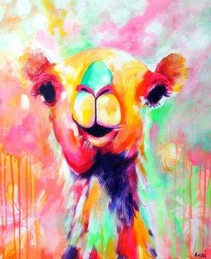 """Hanna"" Original Camel Painting"