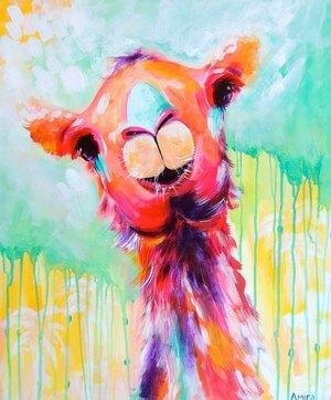"""""""Clarence""""  Original Camel Painting"""