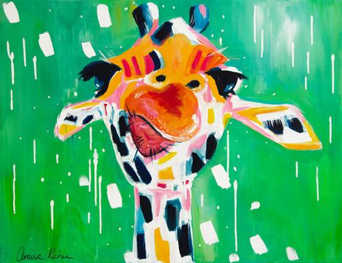 """""""Gino"""" Original Giraffe Painting"""