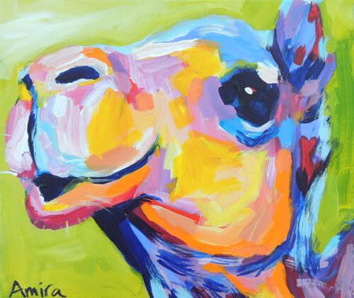 """Fauv Camel Mini 1"" Original Camel Painting"