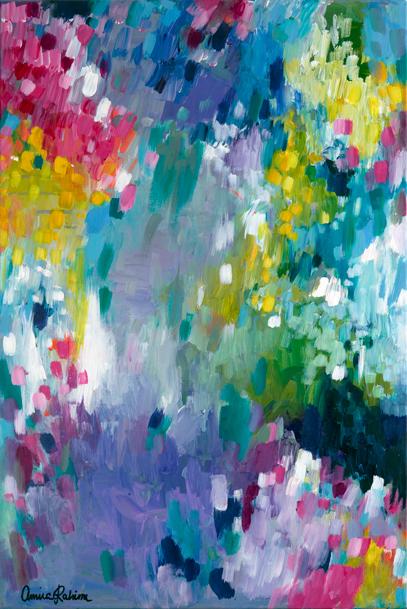 """""""Dancing in the Rain"""" Original Painting"""