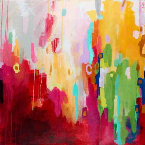 """Electra Street"" Original Abstract Painting"