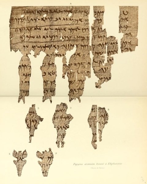 Example of Aramaic papyrus