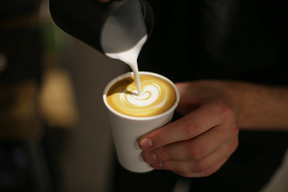 Coffee space latte art event catering