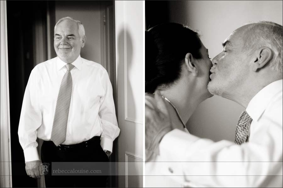 Father sees bride for first time