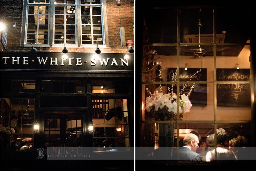 White Swan pub London at night