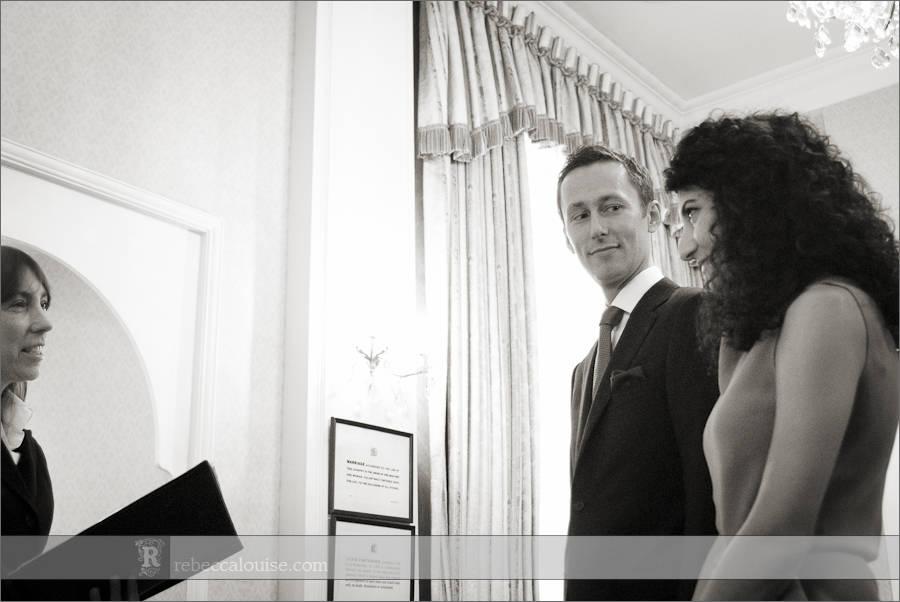 Chelsea Register Office wedding ceremony