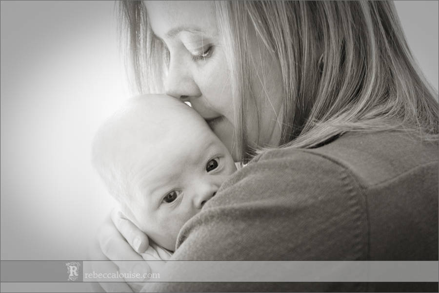 London newborn portrait - mother and baby