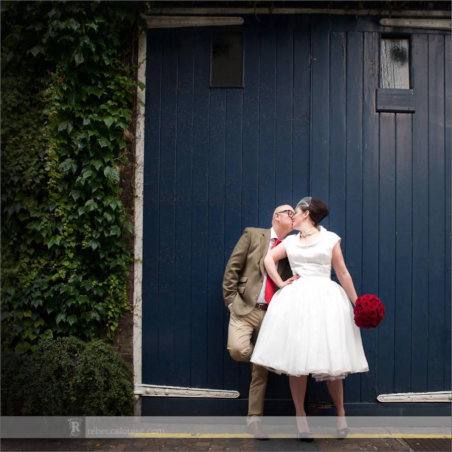 London vintage wedding photo
