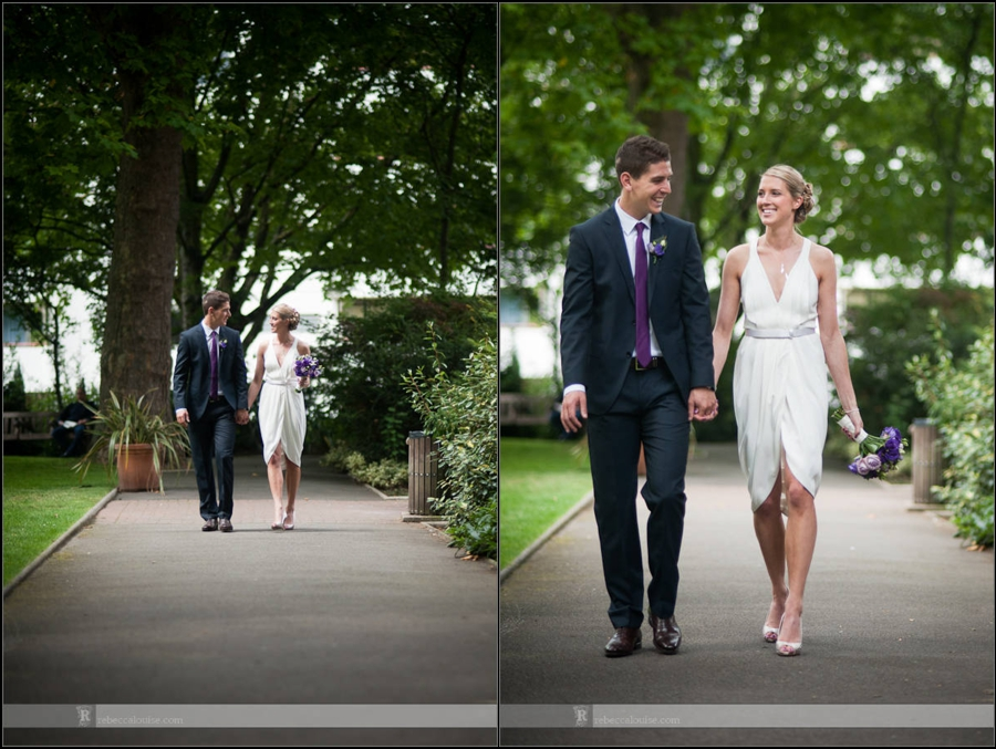 Westminster bride and groom couple portraits in park