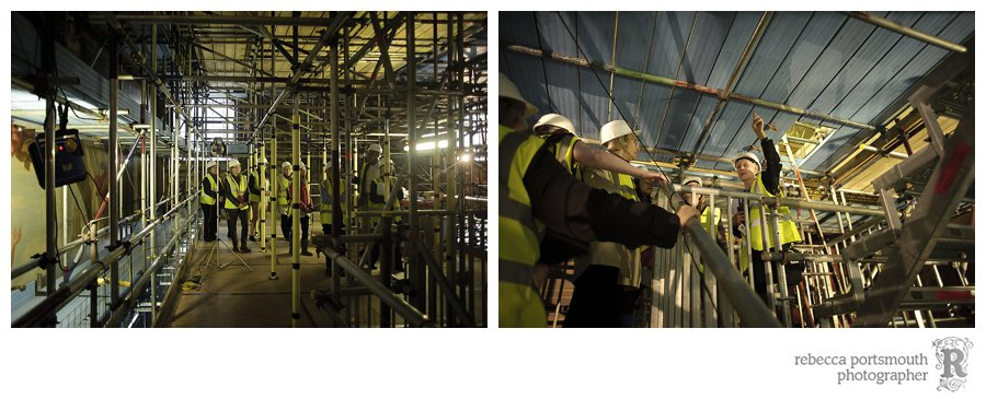 An Open Scaffolding tour of the Painted Hall's west wall restoration work - April 2013