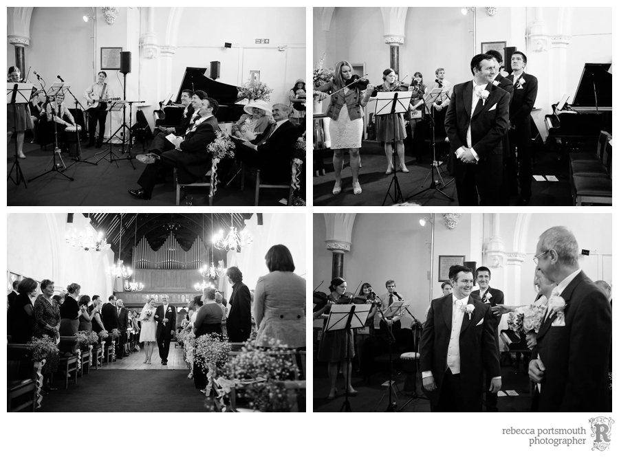 Wedding ceremony at St Andrew's Thornhill Square, London N1 Islington