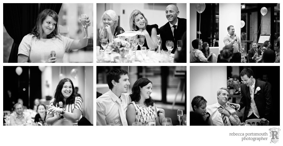 An Irish style open mic speeches at Ruth and Stephen's wedding