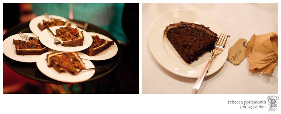 Fruit cake wedding cake and chocolate wedding cake