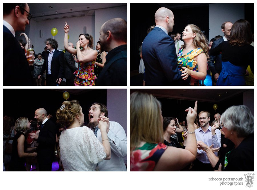 Wedding guests dancing to Abba and '60s music