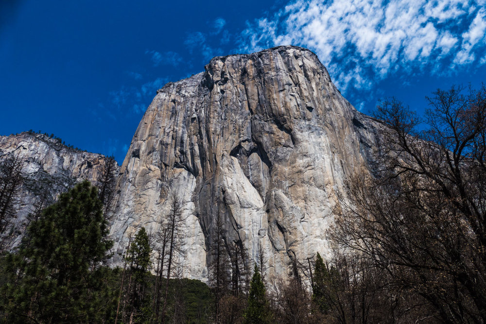 El Capitan, Yosemite NP, California, USA. There is a climber on the lower portion of the rhs - a drop in an ocean of granite.
