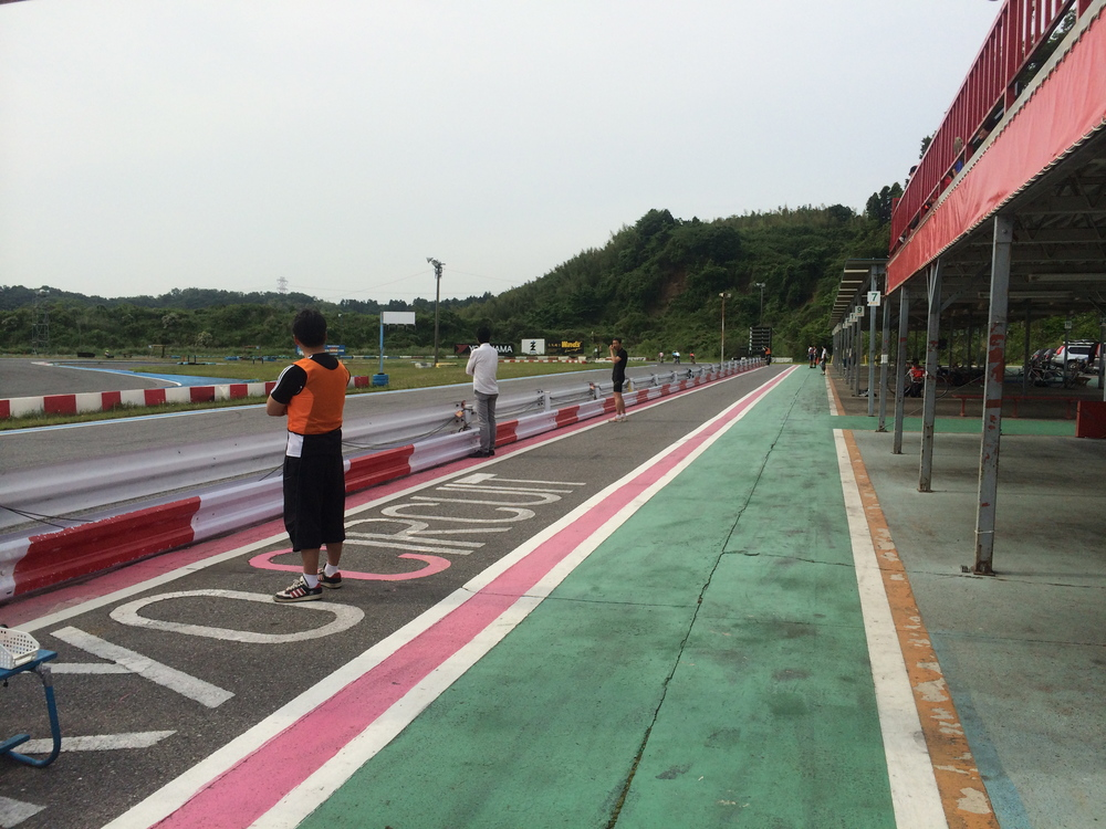 The pit lane