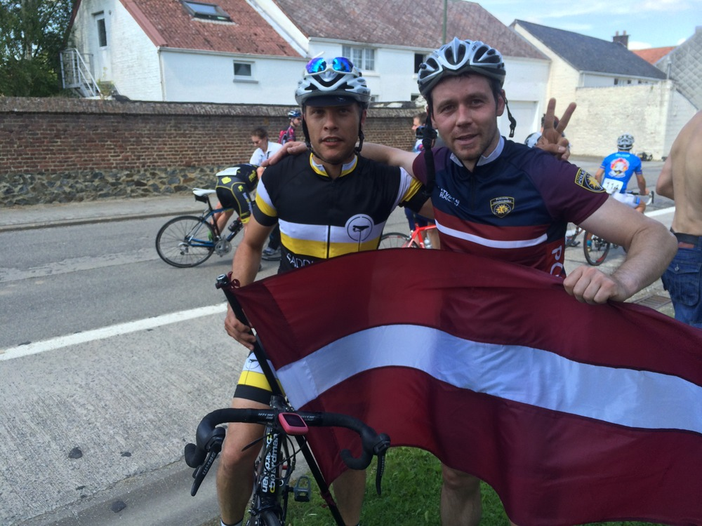 At the finish line with a Latvian Rider @ EPFG 2014