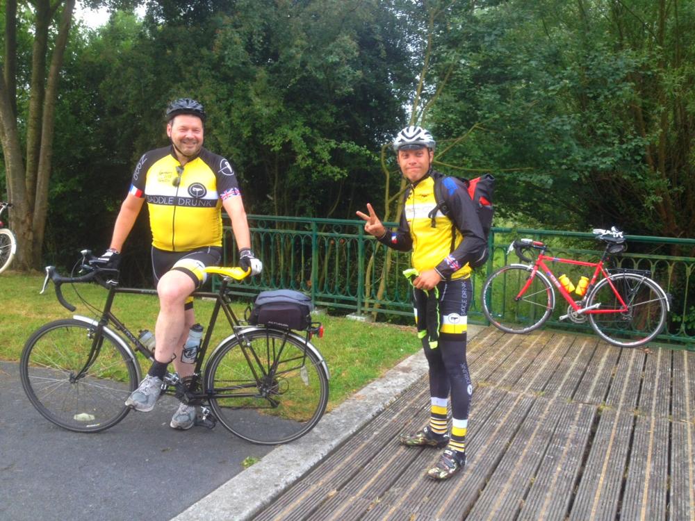John and his extra heavy bike