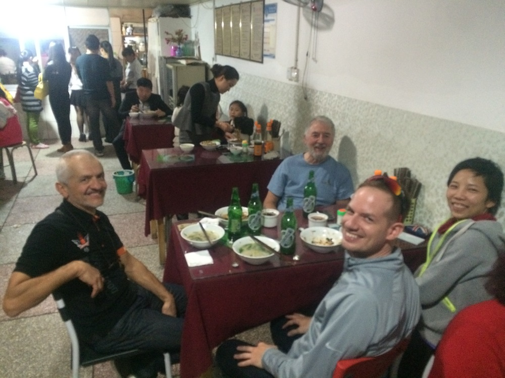 At dinner with our heroes Jingyan & Tim