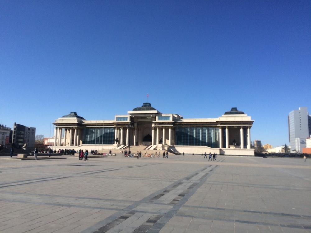 Genghis Khan Square in UB