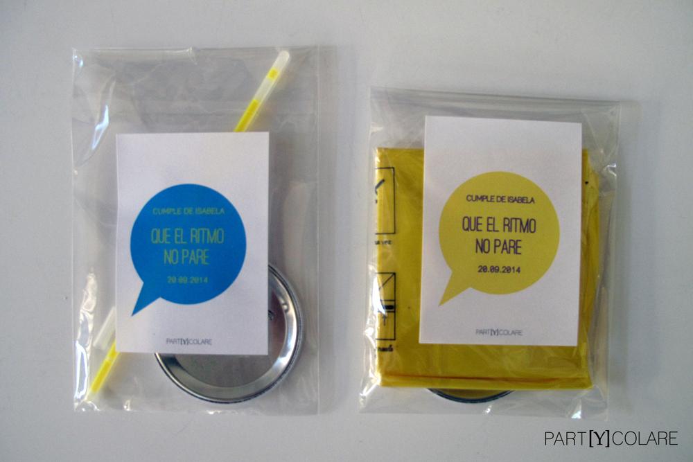 'Que el ritmo no pare'. Así llamamos a estos kits para el cumpleaños de Isabela.