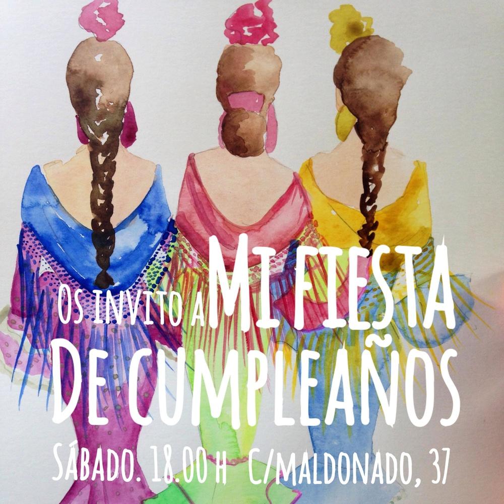 Invitación a un fiestorro flamenco.