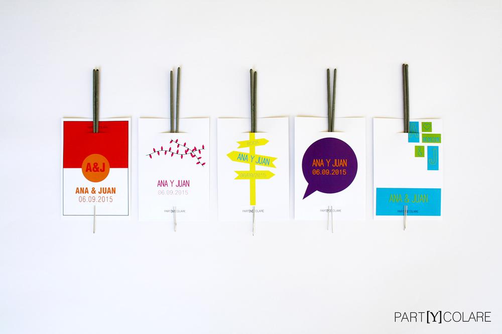 Foto: Diferentes diseños de las bengalas.