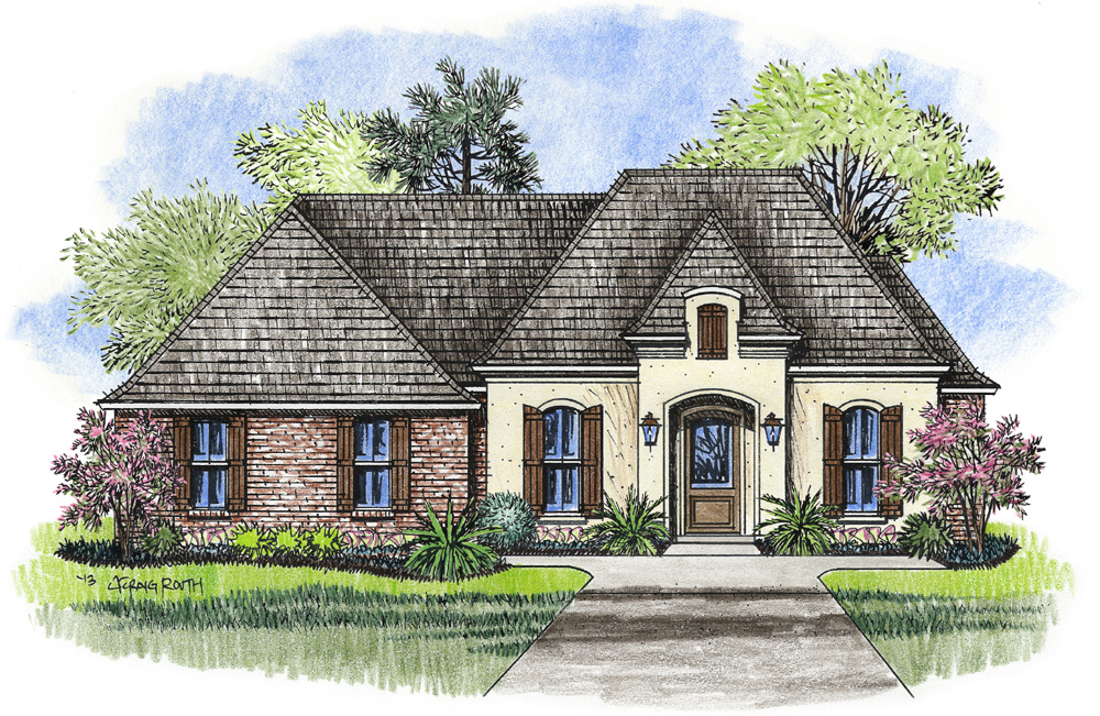 Gallery palmetto design for Small acadian house plans
