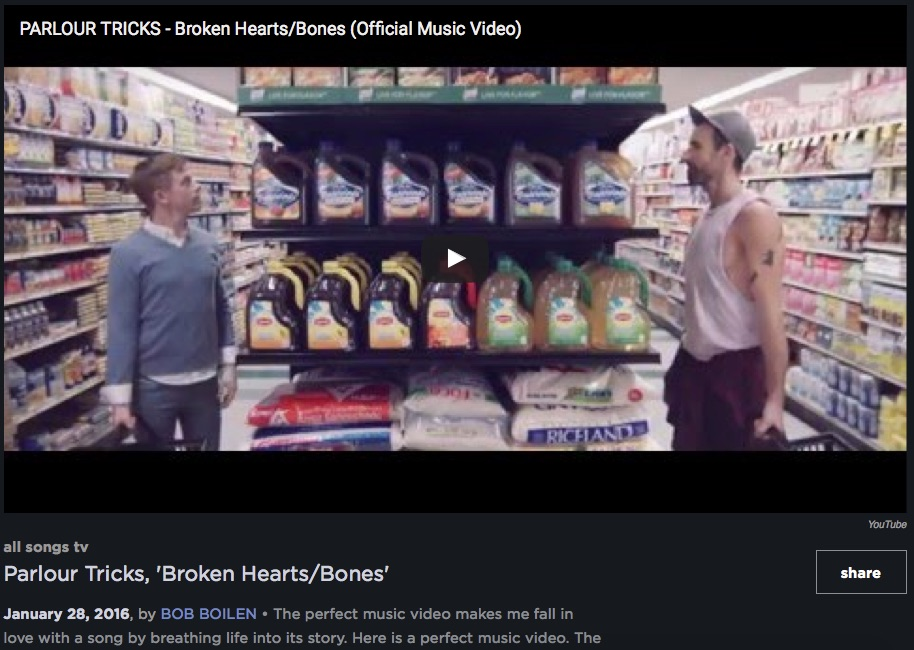 Check out Bob's Boilen's review of the 'Broken Hearts/Bones' music video, and his discussion with Lily!