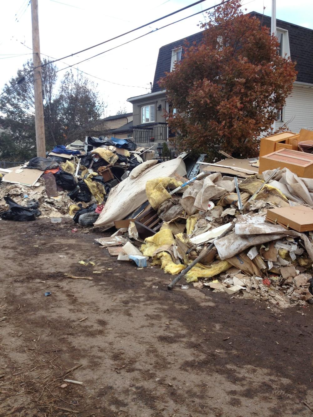 garbage piles
