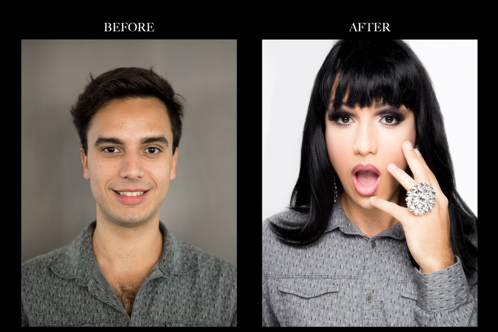 Lucas to LuLu - Transformation by Dino Dilio. Photography by Michael Ching / CMU. Hair by Margo Keith