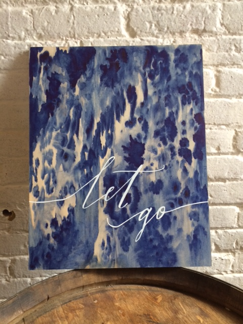 INDIGO.  COLLABORATION WITH W.STROUPE. WATERCOLOR & ACRYLIC ON MAPLE. AVAILABLE.