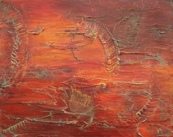 Where Love Begins - 24 x 30, acrylic mixed media on canvas