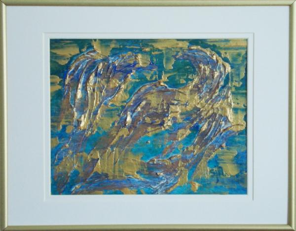 Morning Joy - 11 x 14 in. Acrylic Mixed Media on Cardboard - Shown in Frame