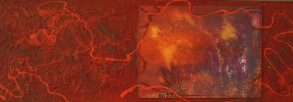 Celebration   - 10 x 30 Acrylic Mixed Media Diptych