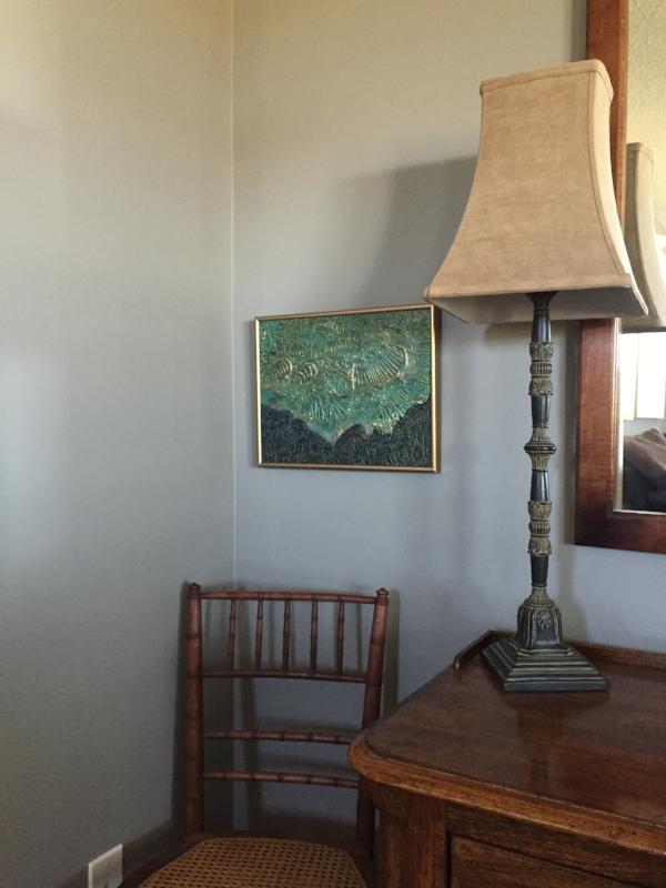 Shown framed in room setting.