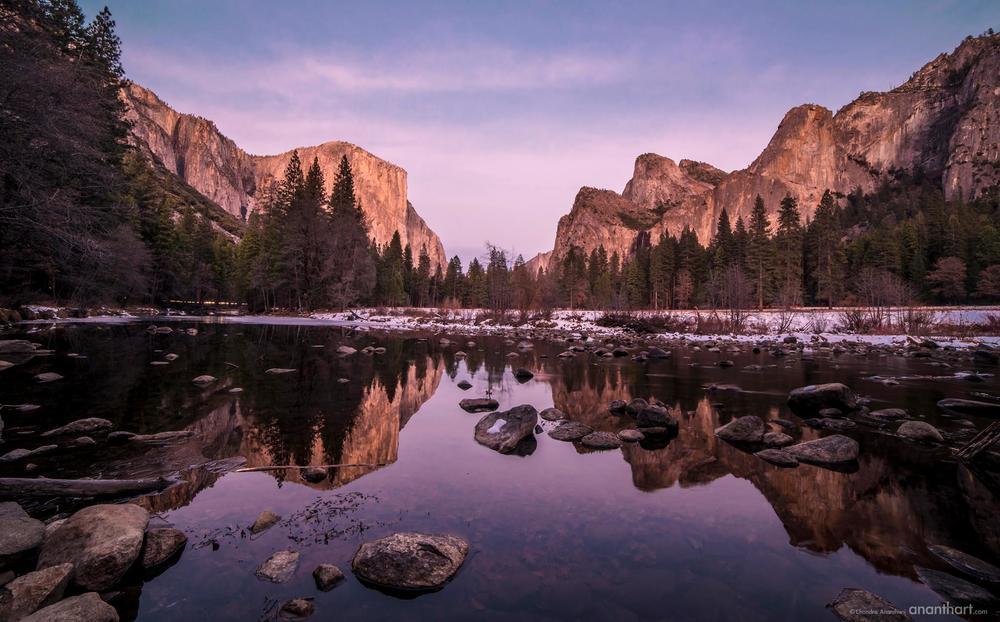 Mirror Lake Yosemite National Park Sierra Nevada mountains California