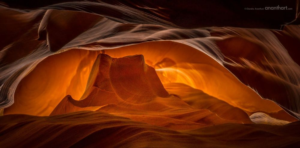 The Rising Sun - Antelope Canyon is a slot canyon in the American Southwest. It is on Navajo land east of Page, Arizona