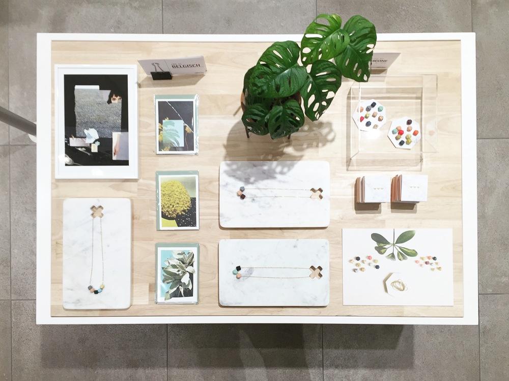 Detail tafel Juttu Antwerpen