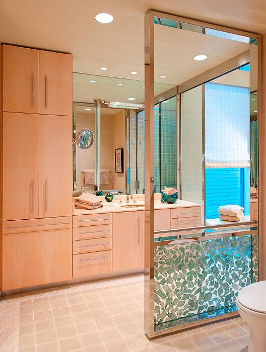 Master Bath Custom Privacy Screen