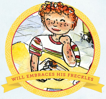 Will embraces his freckles
