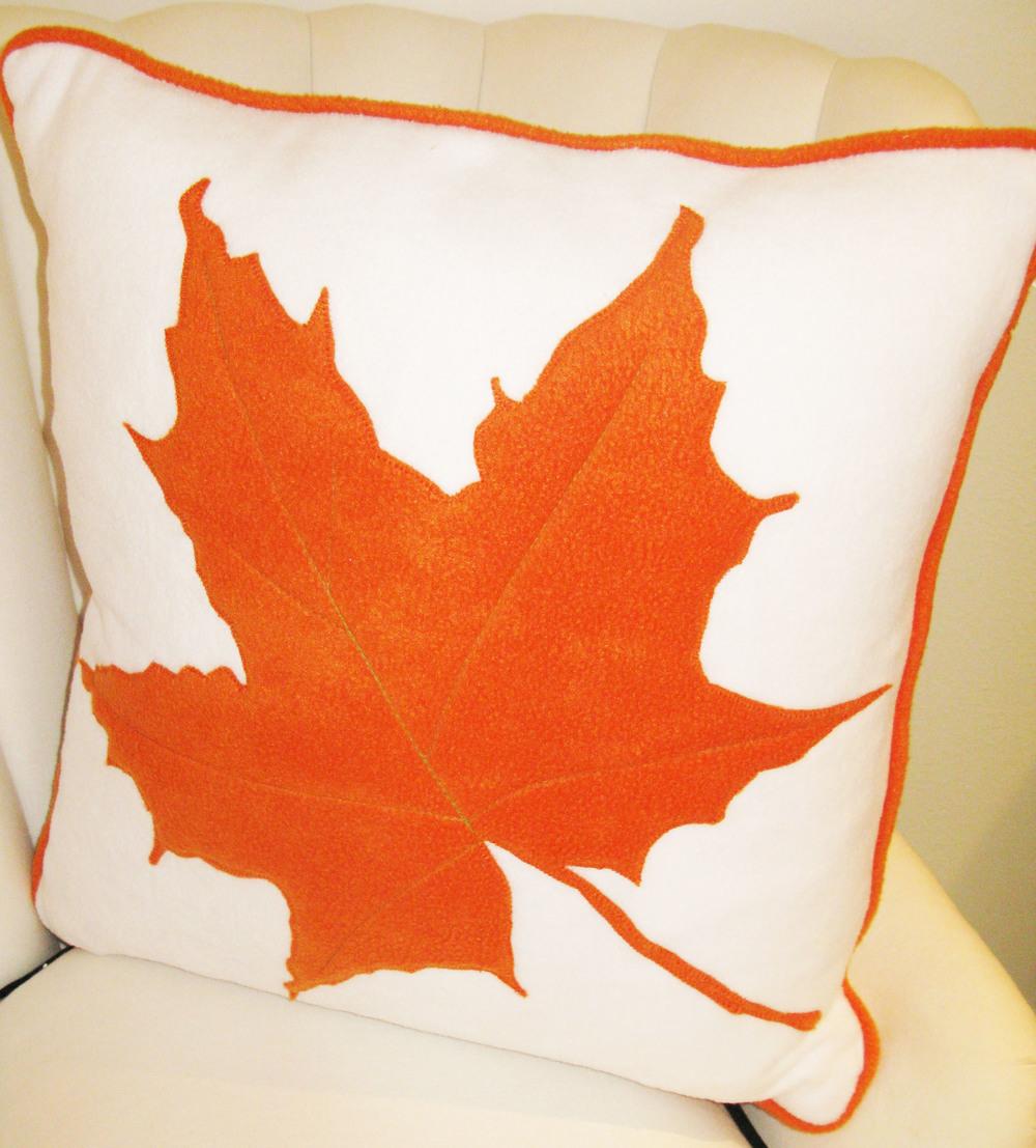 russet leaf pillow