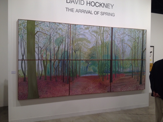 David Hockney The Arrival of Spring