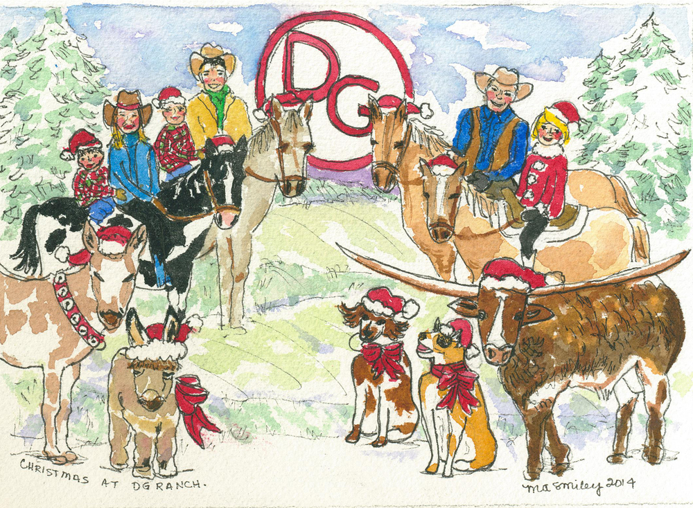 Mary Anne Smiley Custom Watercolor Christmas Cards Drawings