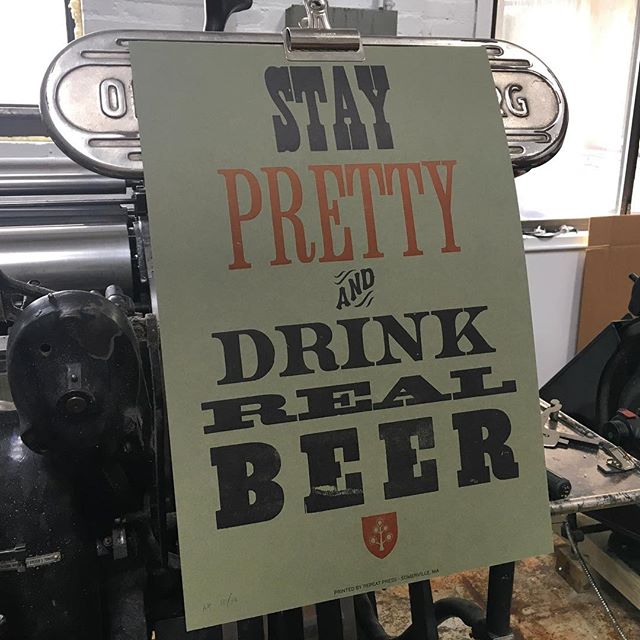 People! Tomorrow, Tues 5/23, the homies at @stateparkbar will be selling a small quantity of vintage @prettythingsbeer as part of co-owner John Kessen's fundraising efforts for the Best Buddies organization.  Additionally, they will have one of these uber limited #letterpress posters we printed years ago up for auction/raffle(tbd) so swing by and support a great cause!
