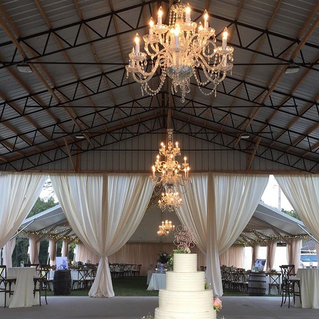 Mocha draping along with our 2 and 3 tier crystal chandeliers made this area feel nice and cozy! #alabamaweddings #alabamaevents #drapery #chandeliers #crystalchandelier #eventdecor #moodsetter #uniqueevents #uniqueeventelements