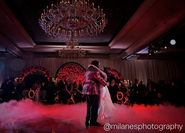 Because if there aren't pictures then it didn't happen! Thanks to the amazing @milanesphotography for capturing this special effect we provided of the low red cloud @c.upshaw_91 and @xojhr danced to for their first dance! #specialeffects #eventpros #eventdecor #eventlighting #lowlyingfog #firstdance #atlantaweddings #whenitcounts #unique #events #uniqueeventelements