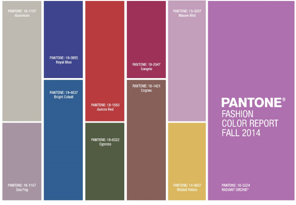 pantone fashion color report fall 2014 trend runway