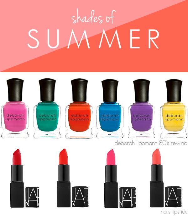 beauty makeup trends nail polish lipstick summer